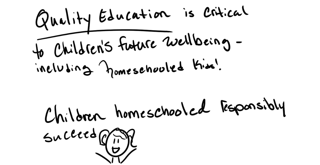 Quality education is critical to children's future wellbeing - including homeschooled kids!Children homeschooled responsibly grow up to succeed.